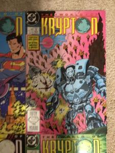 DC The World Of Krypton 1-4 Complete Set * 1987 *