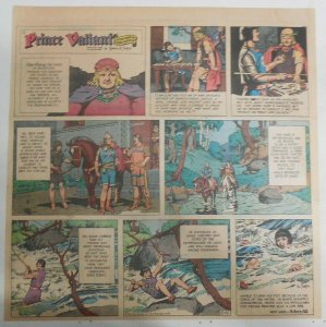 Prince Valiant Sunday by Hal Foster from 2/19/1967 2/3 Full Page Size !