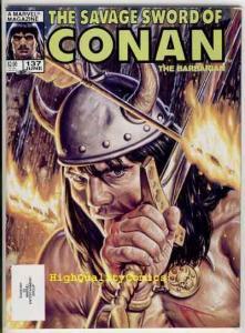 SAVAGE SWORD of CONAN #137, FN, Kull ,Conqueror, Ernie Chan, more SSOC in store