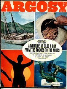Argosy 7/1968-MAFIA-shark story-pulp-G