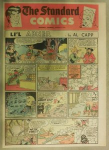 (50) Li'l Abner Sunday Pages by Al Capp from 1952 Tabloid Size Frazetta Artwork!