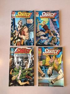 Doc Savage 1-4 complete  VF/NM plot set run Oneil Kubert 1st Mini Series