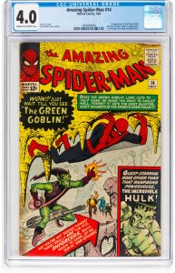 The Amazing Spider-Man #14 (1964) CGC Graded 4.0 1st app of The Green Goblin