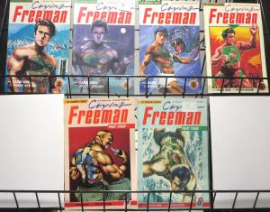 Crying Freeman Lot of 6 viz comics books F/+ 1980s-1990s Kazuo Koike Ikegami