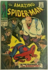 AMAZING SPIDER-MAN#51 FN/VF 1967 MARVEL SILVER AGE COMICS