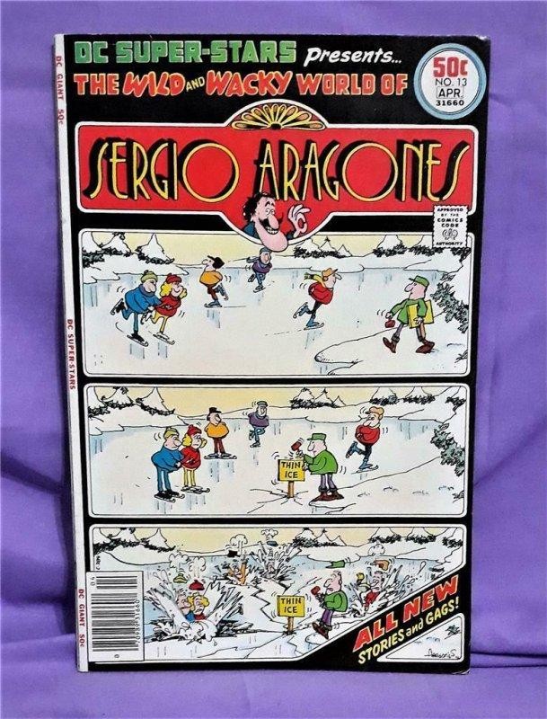 DC Giant DC SUPER-STARS #13 The Wild and Wacky World Sergio Aragones (DC, 1977)!