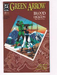 Green Arrow #22 VF DC Comics Arrow TV Show Comic Book Grell DE21