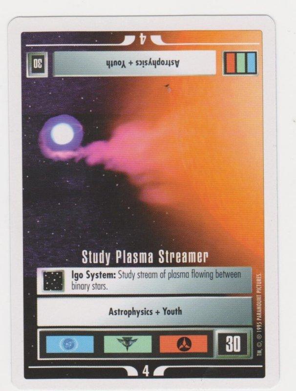 1995 Star Trek Trading Game Card Event - Study Plasma Streamer