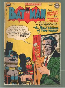 BATMAN 68;VG/F 5.0 Classic TWO FACE cover! WHAT A COVER!!