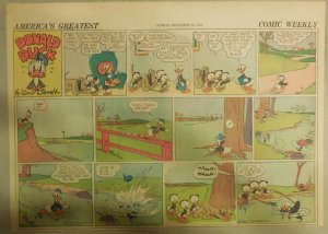 Donald Duck Sunday Page by Walt Disney from 12/14/1941 Half Page Size