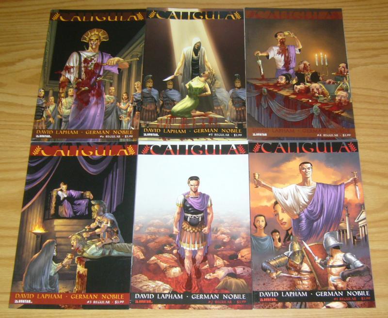 Caligula #1-6 VF/NM complete series - david lapham - avatar press comics 2 3 4 5