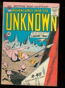 ADVENTURES INTO THE UNKNOWN #145 1963-RETRO ROCKET COVR VG