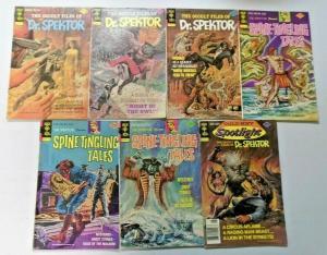Gold Key Doctor Spektor lot 15 different avg 4.0 VG (1974)