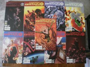 9 Marvel CAPTAIN BRITAIN and MI 13 Comic Book: #5 6 8 9 11 12 13 14 ANNUAL #1