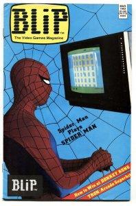 Blip #2-Marvel Video game magazine 1983-SPIDER-MAN cover