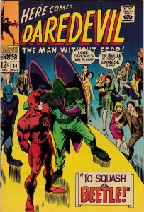 Daredevil 34 VG/VG+ DD Vs. The Beetle (Marvel Nov. 1967)