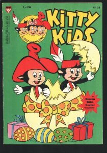 Kitty Kids #28 1980's-Cartoon type humor-German edition-Poster still attached-FN