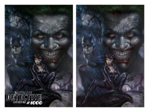 DETECTIVE COMICS 1000 LUCIO PARRILLO BLOOD VIRGIN VARIANT SET BATMAN PRE-SALE