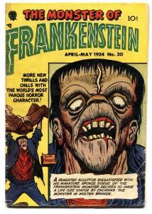 Frankenstein #30-1954 DICK BRIEFER-Golden Age horror -Great cover VG