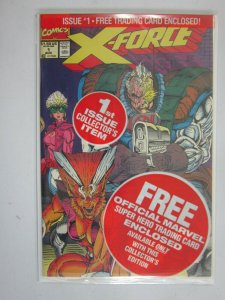 X-Force #1 with Deadpool card 8.0 VF (1991 1st Series)
