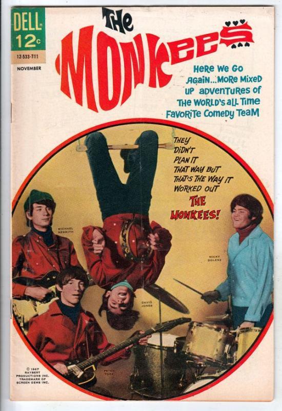 Monkees, The #6 (Nov-67) FN/VF Mid-High-Grade The Monkees (Peter Tork, David ...