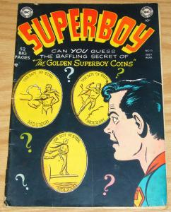 Superboy #15 GD/VG august 1951 - golden age dc comics - coins cover - 52 pages