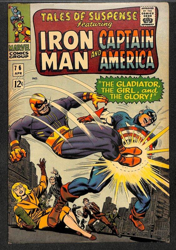 Tales Of Suspense #76 VG 4.0 Iron Man