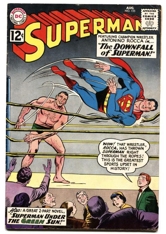 SUPERMAN #155 1962-DC COMICS-WRESLTING-ANTONINO ROCCA FN-
