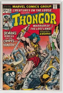 CREATURES ON THE LOOSE (1971 MARVEL) #27 VG+ A01873