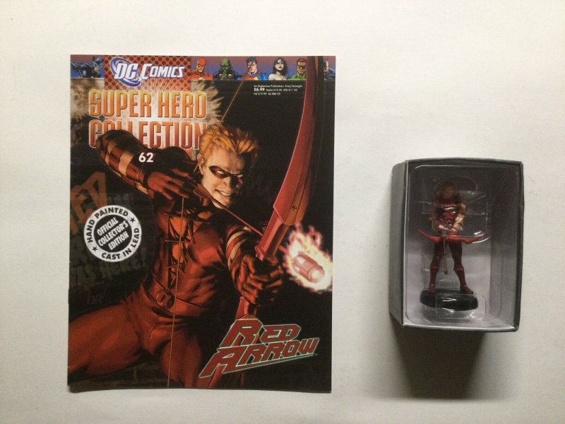 Red Arrow Super Hero Collection Lead Figure and Magazine Dc Eaglemoss