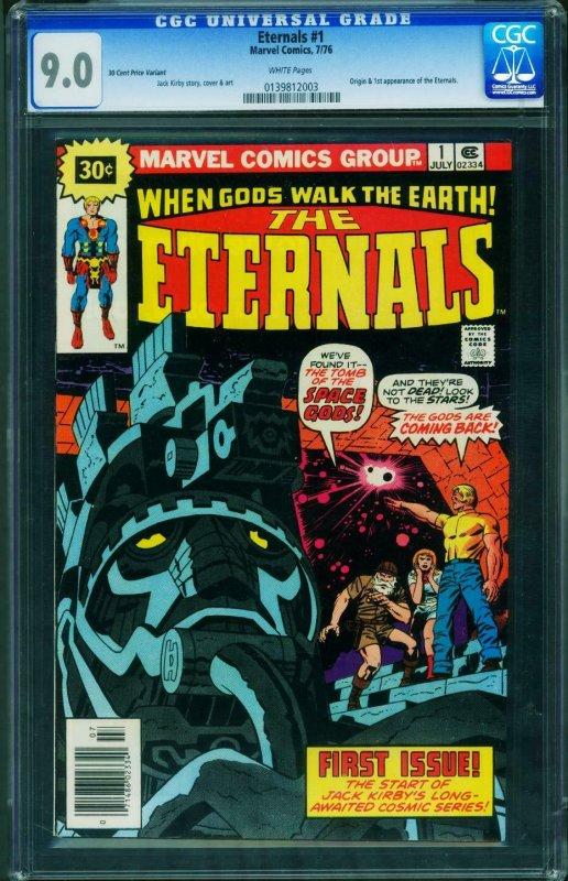 THE ETERNALS #1 CGC 9.0 30 cent variant-unpressed- 0139812003