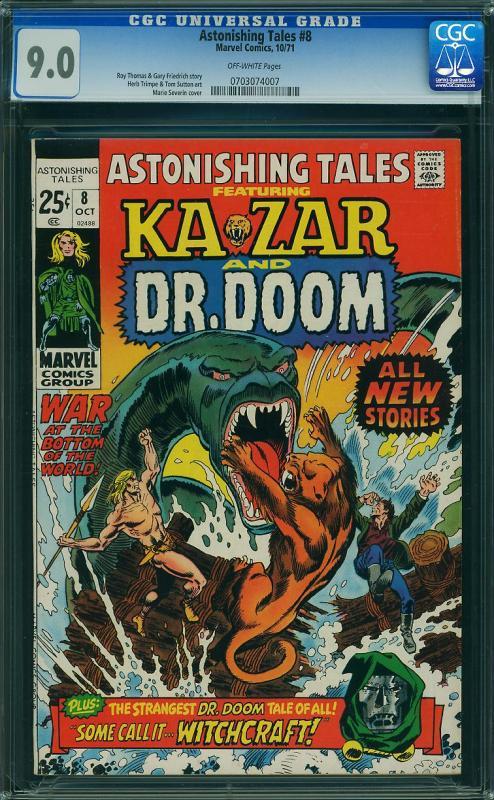 Astonishing Tales #8 (Marvel, 1971) CGC 9.0