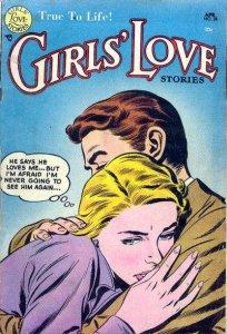 Girls' Love Stories #28, Good- (Stock photo)