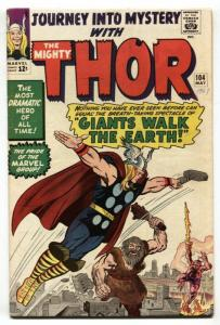 JOURNEY INTO MYSTERY #104 comic book 1964-THOR-JACK KIRBY VF-
