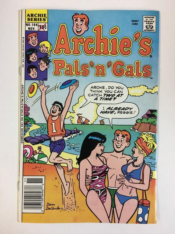 ARCHIES PALS & GALS (1952-    )184 VF-NM  Nov 1986 COMICS BOOK