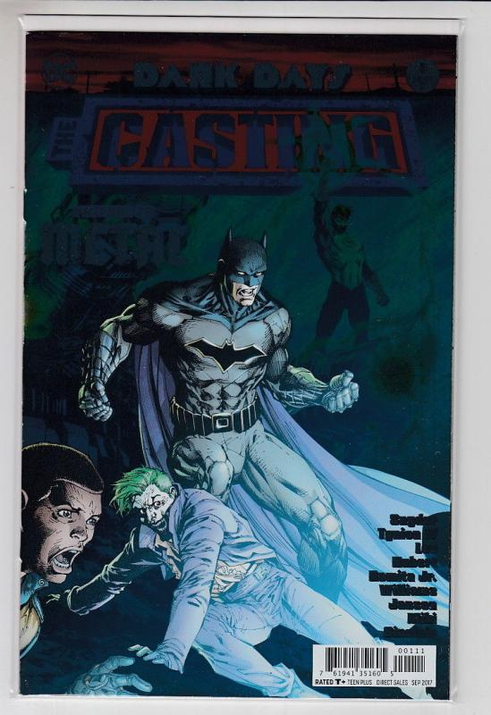 DARK DAYS THE CASTING (2017 DC) #1 FOIL COVER DARK NIGHTS METAL 1ST PRINT NM