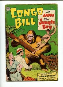 CONGO BILL #1-1954-JANU THE JUNGLE BOY-GOLDEN GORILLA-VG VG