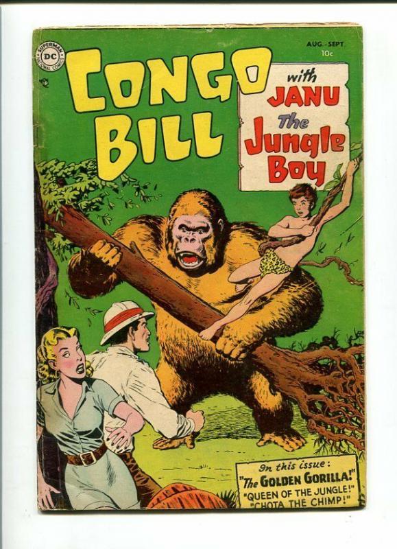 CONGO BILL #1-1954-JANU THE JUNGLE BOY-GOLDEN GORILLA-VG VG