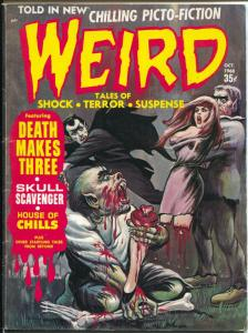 Weird Vol. 2 #8 1968-Eerie-weird menace-brutal dismemberment cover-VG