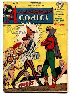 All-American Comics #94 1948- Green Lantern- Harelquin- DC Golden Age