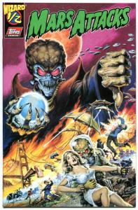 MARS ATTACKS #1/2, NM, Wizard Mail away, 1996, Aliens, UFO, Invasion from Mars