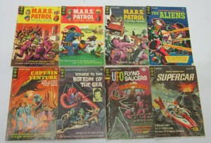 SciFi + Space comic lot 32 diff books various conditions (mostly Silver years)