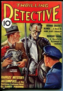 Thrilling Detective 12/1935-Raffles by Barry Perowne-hardboiled pulp crime-VF-