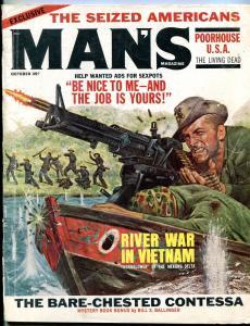 Man's Magazine October 1966-SURGERY PICS-VIETNAM WAR VG-