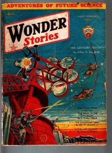 Wonder Stories Pulp Magazine Apr 1932-Sci-Fi-Frank Paul G