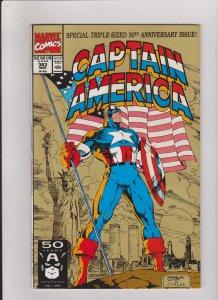 CAPTAIN AMERICA #383  VF/NM 1991 MARVEL COMICS 50TH ANNIVERSARY ISSUE