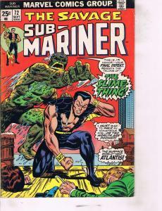 Lot Of 2 Marvel Comic Book Savage Sub-Mariner #72 and Alpha Flight #3  AB7