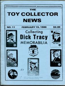 Toy Collector News #11 2/15/1986-Dick Tracy Issue-Li'l Abner-Star Trek-VF-