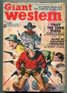 GIANT WESTERN 08/1949-THRILLING-PULP WESTERN ACTION-GUN FIGHT COVER-vg