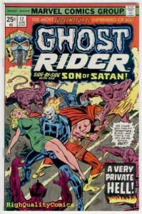 GHOST RIDER #17, VF, Son of Satan,Hell, Movie, 1973, more GR's in our store